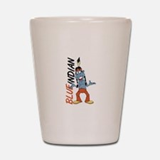 Blue Indian Shot Glass