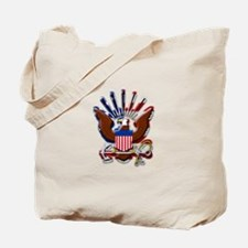 USN Eagle Flag Bevel Tote Bag