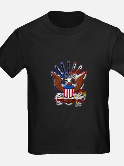 USN Eagle Flag Bevel T