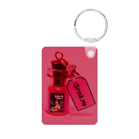 "Butterfly Potion ""Drink Me"" Pic Aluminum Photo Key"