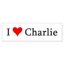 I Love Charlie Bumper Bumper Sticker