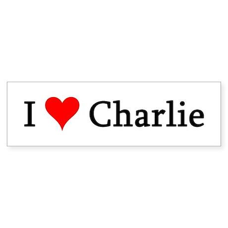I Love Charlie Bumper Sticker