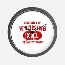 Property of Wyoming, Equality State Wall Clock