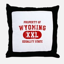 Property of Wyoming, Equality State Throw Pillow