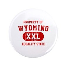 "Property of Wyoming, Equality State 3.5"" Button"