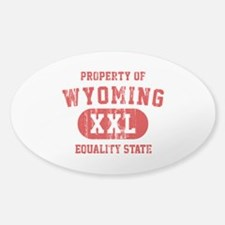 Property of Wyoming, Equality State Decal