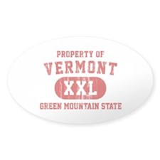 Property of Vermont, Green Mountain State Decal
