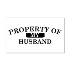 Property of my husband Car Magnet 20 x 12