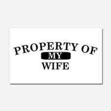 Property of wife.png Car Magnet 20 x 12