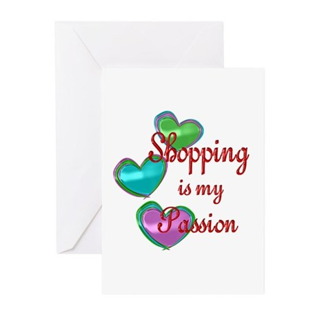Shopping Passion Greeting Cards (Pk of 10)
