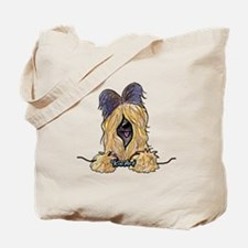 Pocket Briard Tote Bag