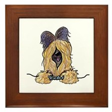 Pocket Briard Framed Tile