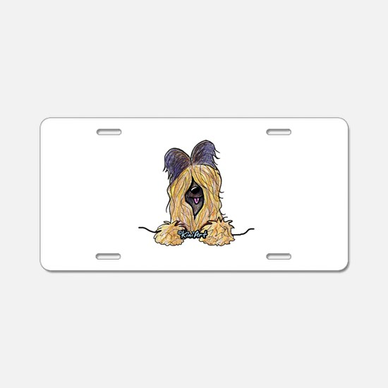 Pocket Briard Aluminum License Plate