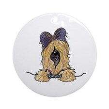Pocket Briard Ornament (Round)