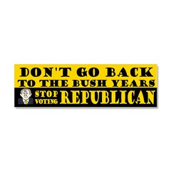 No Bush II: Stop Voting GOP Car Magnet 10 x 3