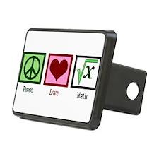 Peace Love Math Hitch Cover