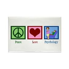 Peace Love Psychology Rectangle Magnet