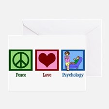 Peace Love Psychology Greeting Card