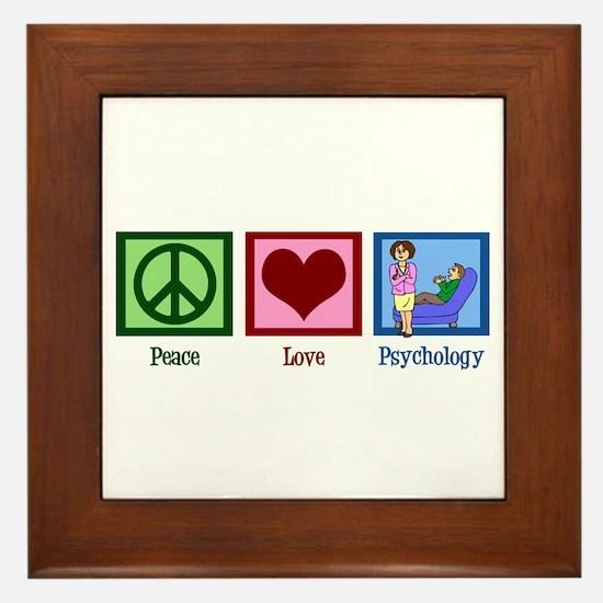 Peace Love Psychology Framed Tile