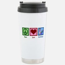 Peace Love Psychology Stainless Steel Travel Mug