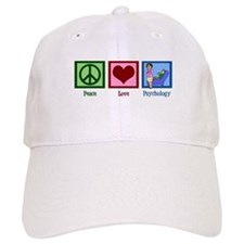 Peace Love Psychology Baseball Cap