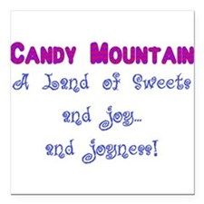 """Candy Mountain for white.png Square Car Magnet 3"""""""