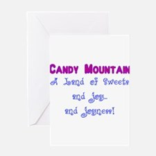 Candy Mountain for white.png Greeting Card