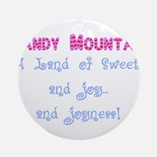 Candy Mountain for white.png Ornament (Round)