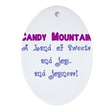 Candy Mountain for white.png Ornament (Oval)