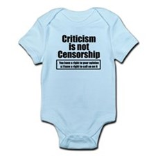 Criticism is not Censorship w/o deal with it Infan