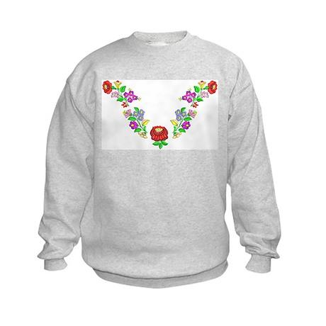 Hungarian folk motif Kids Sweatshirt