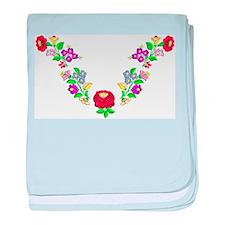 Hungarian folk motif baby blanket