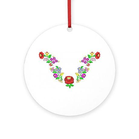 Hungarian folk motif Ornament (Round)