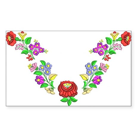 Hungarian folk motif Sticker (Rectangle)