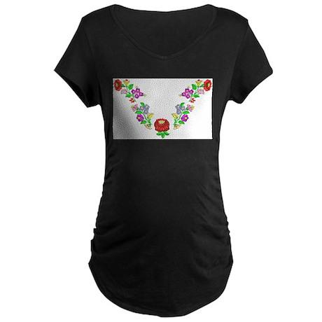 Hungarian folk motif Maternity Dark T-Shirt