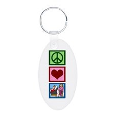 Peace Love Therapy Keychains