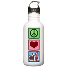 Peace Love Therapy Sports Water Bottle