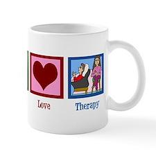 Peace Love Therapy Mug