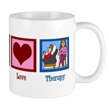 Peace Love Therapy Mug