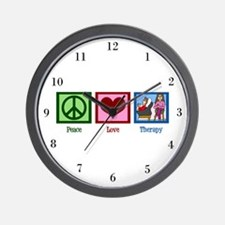 Peace Love Therapy Wall Clock
