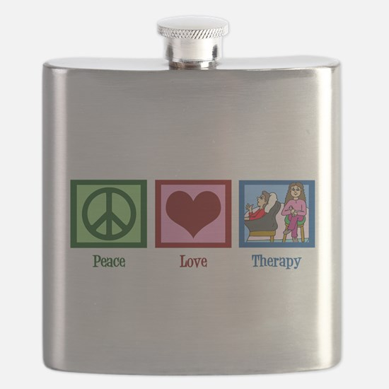 Peace Love Therapy Flask