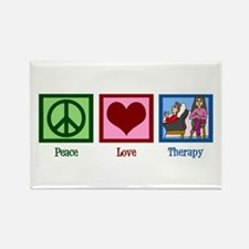 Peace Love Therapy Rectangle Magnet
