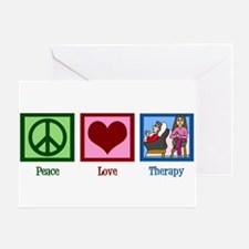 Peace Love Therapy Greeting Card
