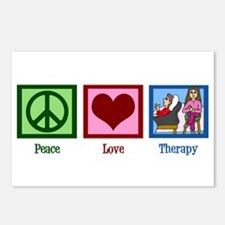 Peace Love Therapy Postcards (Package of 8)