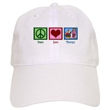Peace Love Therapy Baseball Cap