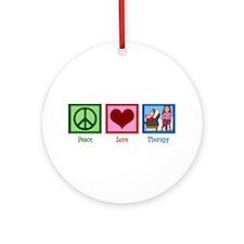 Peace Love Therapy Ornament (Round)