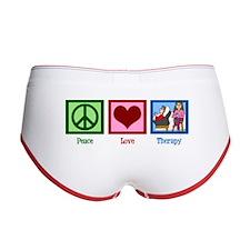 Peace Love Therapy Women's Boy Brief