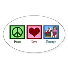 Peace Love Therapy Decal