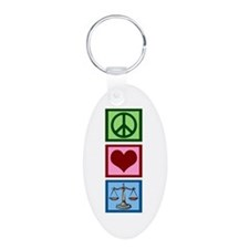Peace Love Law Keychains