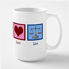 Peace Love Law Large Mug
